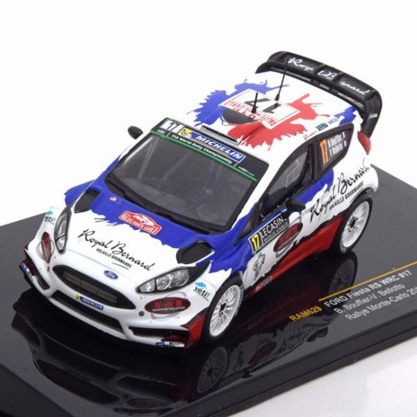 Ford Fiesta RS WRC No.17,Rally Monte Carlo 2016 Bouffier/Bellotto 1-43 Ixo Models