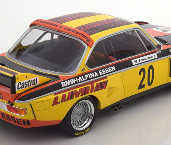 BMW 3.0 CSL No.20, Norisring Trophäe Schommers 1974 1:18 Minichamps Limited 350 Pieces