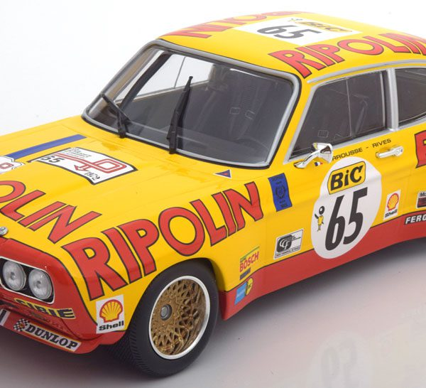 Ford Capri RS 2600 No.65, Tour de France Automobile 1972 Larrousse/Rives 1-18 Minchamps Lim. 402 Pieces