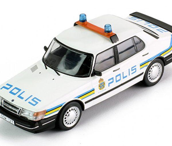 "Saab 900i 1987 ""Polis"" Swedisch Police 1-43 PremiumX"