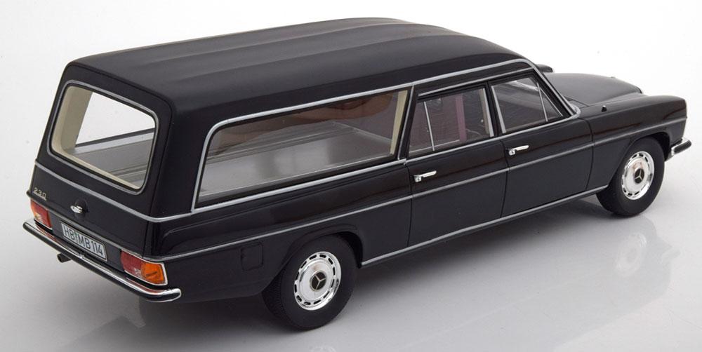 Mercedes-Benz Straight /8 W114 Pollmann Lijkenwagen 1-18 Zwart Cult Scale Models 1-18 Limited