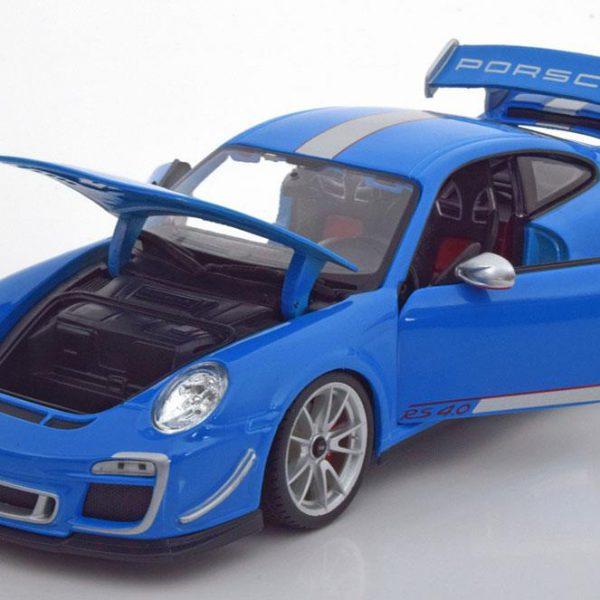 Porsche 911 GT3 RS 4.0 2011 1:18 Blauw Burago