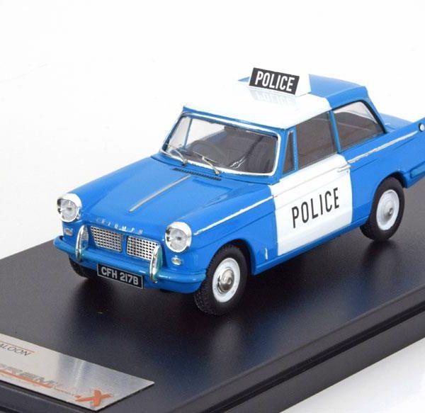 Triumph Herald UK Police 1962 Blauw / Wit 1-43 PremiumX