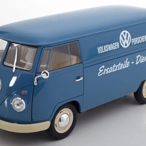 """Volkswagen T1 Bus 1963 """"Porsche Ersatzteile Dienst """"1-18 Blauw Welly"""