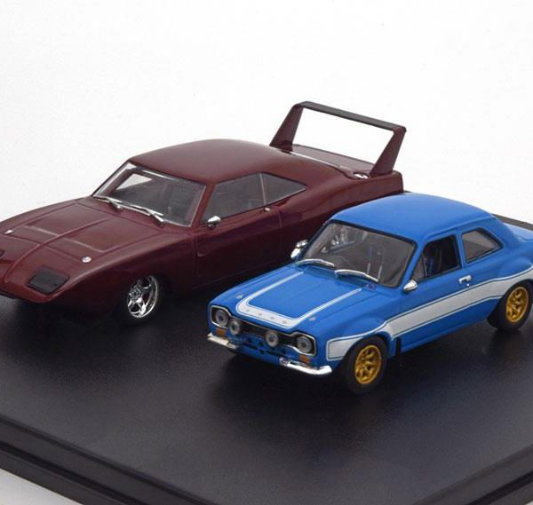 Dodge Charger Daytona 1969 & Ford Escort RS 2000 MKI 1974 Fast & The Furious 6 Duo set 1:43