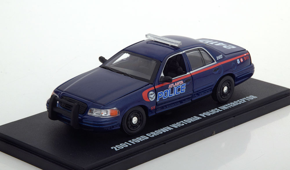 """Ford Crown Victoria Police 2001 """"The Walking Dead """"1-43 Greenlight Collectibles"""