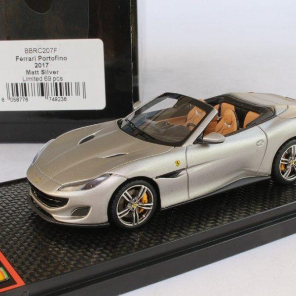 Ferrari Portofino 2017 Mat Zilver 1-43 BBR Models Limited 69 Pieces