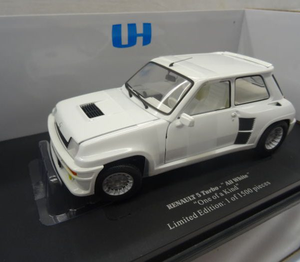 Renault 5 Turbo 'All White One of a Kind' 1-18 Universal Hobbies