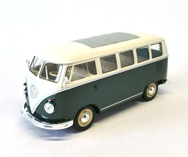 Volkswagen T1 Bus 1963 Groen/Wit 1:24 Welly