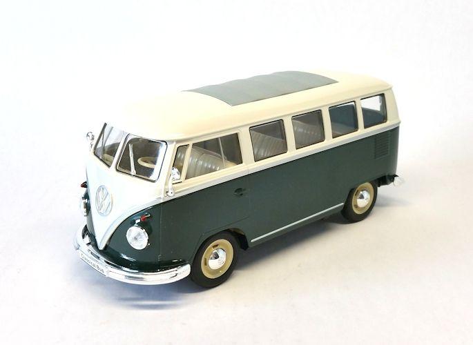 Volkswagen T1 Bus 1963 Groen/Wit 1:24 Welly