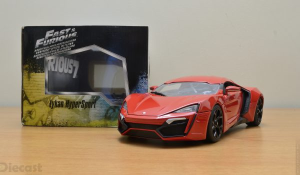 "Lykan Hypersport "" Fast and Furious 7' 2015 rood 1:18 Jada Toys"
