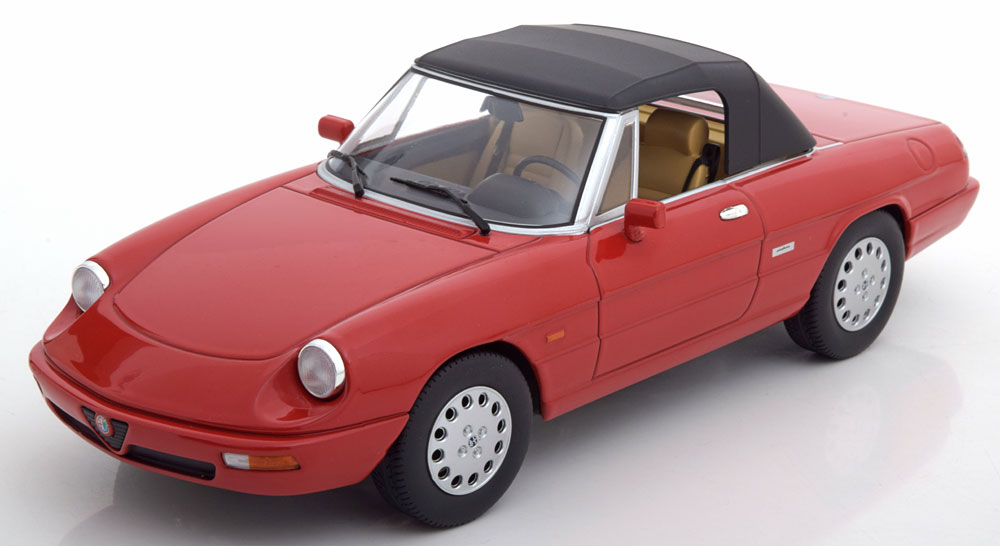 Alfa Romeo Spider 4 Softtop 1993 Rood 1-18 KK Scale Limited 1250 Pieces