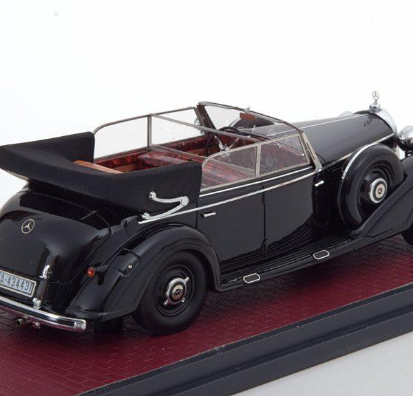 Mercedes-Benz 770 Cabriolet 1938 Zwart 1-43 Matrix Scale Models Limited 299 Pieces