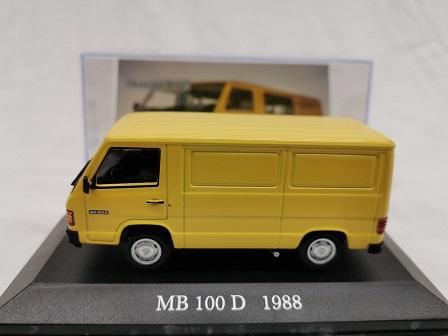 Mercedes 100 D 1988 Geel 1-43