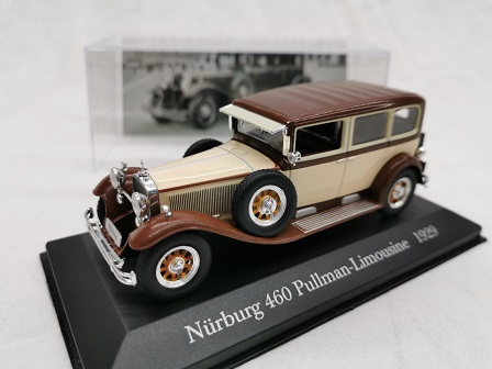 Mercedes-Benz Nurburg 460 Pullman-Limousine 1929 Bruin 1-43 Altaya Mercedes-Benz Collection