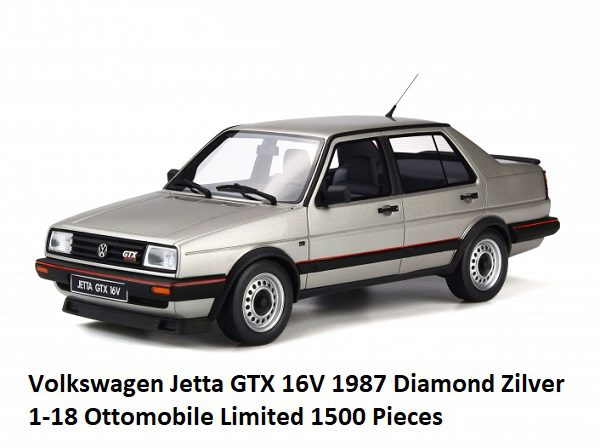 Volkswagen Jetta GTX 16V 1987 Diamond Zilver 1-18 Ottomobile Limited 1500 Pieces