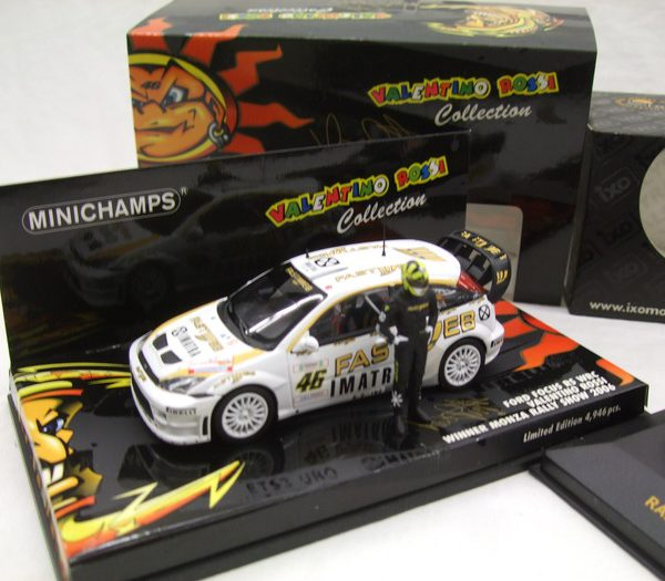 Ford Focus RS WRC #46 Valentino Rossi Winner Monza Rally Show 2006 1:43 Minichamps Limited 4946 Pcs