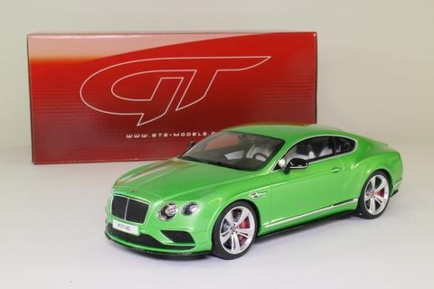 Bentley Continental GT V8 S Coupe Groen Metallic 1/18 GT Spirit Limited 1500 Pieces