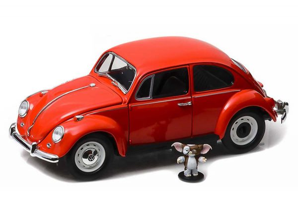 Volkswagen Beetle 1967 with Gizmo Figure - Gremlins (1984) Rood 1:18 Greenlight Collectibles