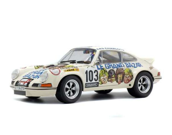 """Porsche 911 RSR (1973) """"Le Grand Bazar"""" #103 Solido 1-18"""