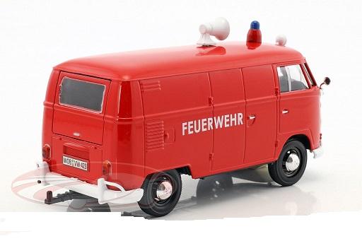 Volkswagen Type 2 T1 Bus Brandweer Rood 1:24 Motormax