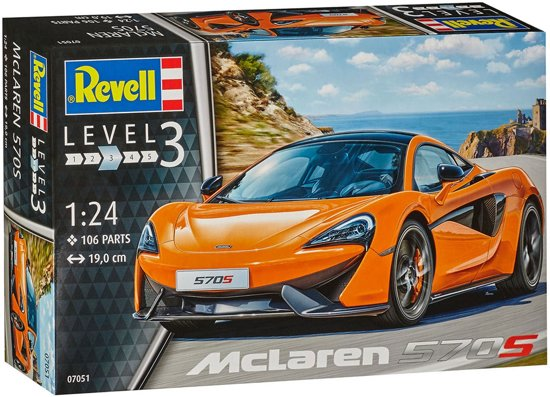 McLaren 570S 106 Parts Level 3 1:24 Revell Bouwdoos