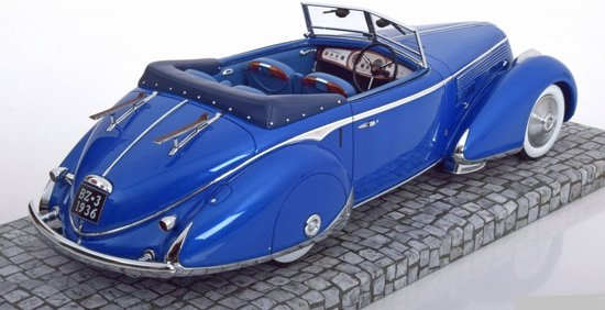 Lancia Astura Tipo 233 Corto 1936 Blauw 1-18 Minichamps First Class Collection Edition 42 Limited 150 Pieces
