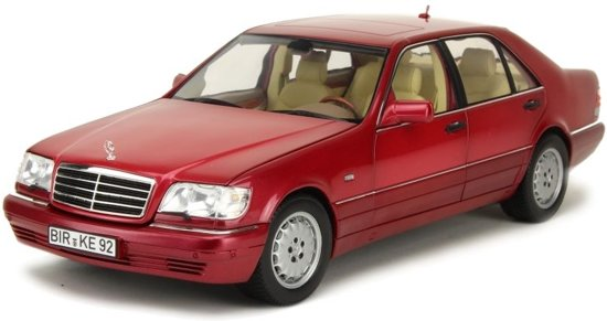 Mercedes-Benz S500 1997 1:18 Rood Norev