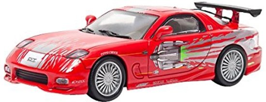 "Mazda RX-7 Dom's ""The Fast And The Furious"" Rood 1-43 Greenlight Collectibles"