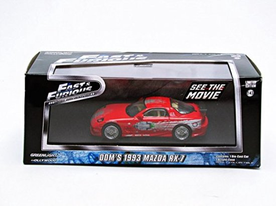 """Mazda RX-7 Dom's """"The Fast And The Furious"""" Rood 1-43 Greenlight Collectibles"""