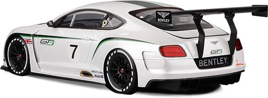 Bentley Continental GT3 #7 1:18 Wit True Scale Models