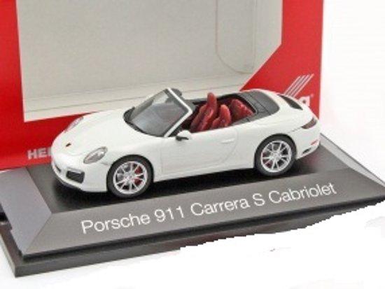 Porsche 911 (991) Carrera S Cabriolet wit 1:43 Herpa