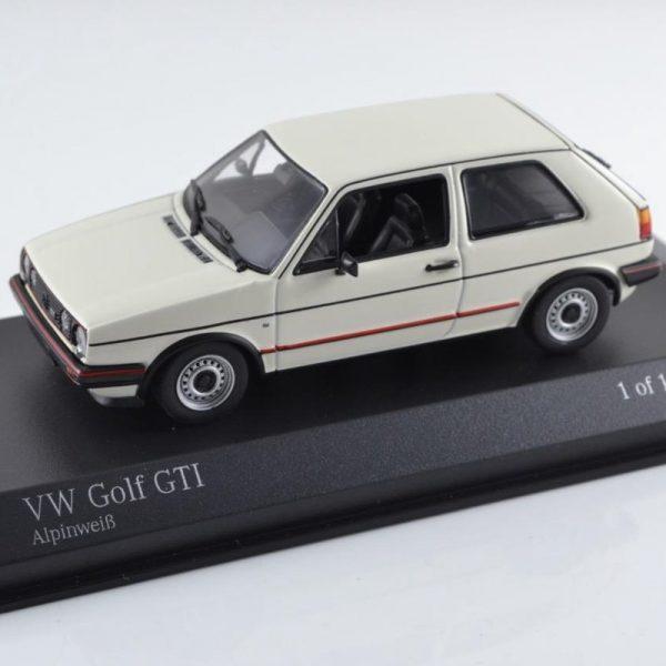 Volkswagen Golf II GTi 1985 Wit 1-43 Minichamps Limited 1296 pcs.
