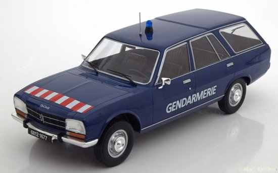 Peugeot 504 Break 1978 Gendarmerie Blauw 1-18 MCG Models Limited