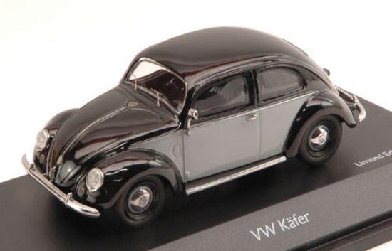 Volkswagen Kafer Beetle 1950 Zwart/Grijs Schuco 1:43 Limited 1000 pcs.