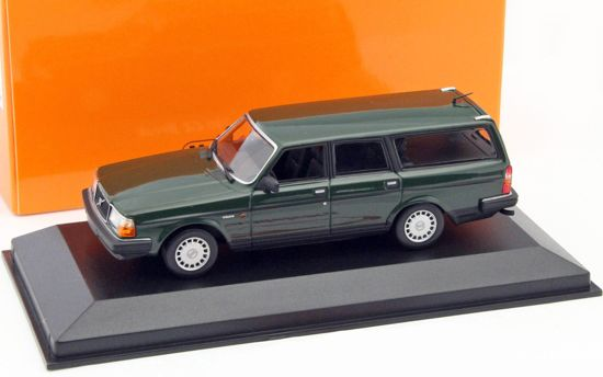 Volvo 240 GL Break 1986 Donkergroen 1:43 Maxichamps