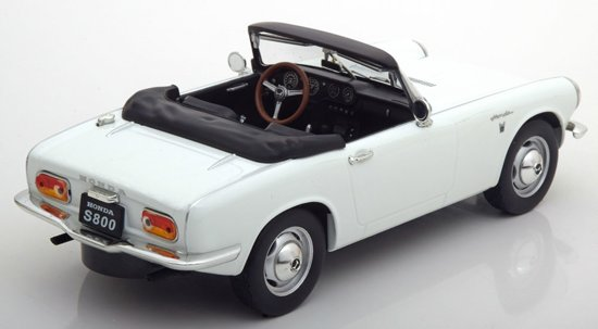 Honda S800 Cabrio 1966 Wit 1-18 Triple 9 Collection