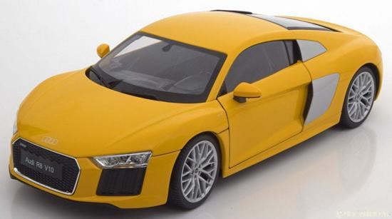 Audi R8 V10 2016 Geel 1-18 Welly