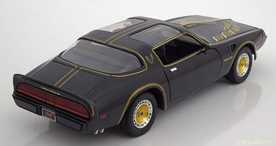 Pontiac Firebird with Turbo 1980 *Smokey & the Bandit II, black/gold Greenlight Collectibles 1-18