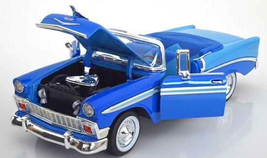 Chevrolet Bel Air 1956 Cabrio Blauw 1:18 Yatming Lucky Diecast
