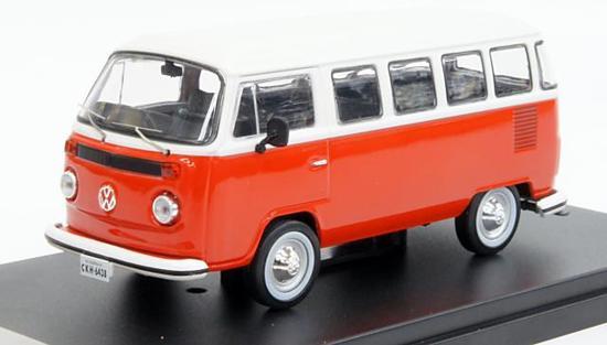 Volkswagen T2 Kombi 1976 1:43 Rood/Wit PremiumX