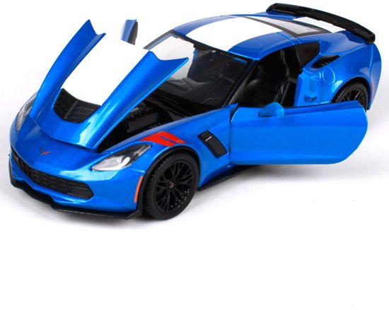 Chevrolet Corvette Grand Sport C7 2017 Blauw 1-24 Maisto