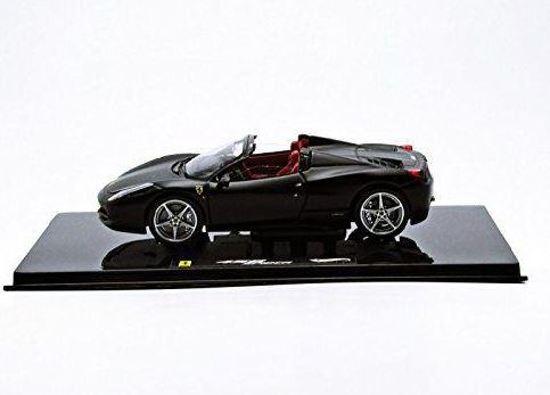 Ferrari 458 Spider 1:43 Zwart Hotwheels Elite