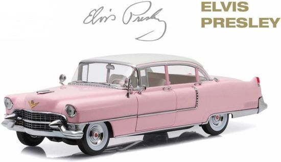 Cadillac Fleetwood 1955 Elvis Presley Rose 1:18 Greenlight