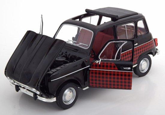 Renault 4L Parisienne 1964 Zwart/Rood 1-18 Norev