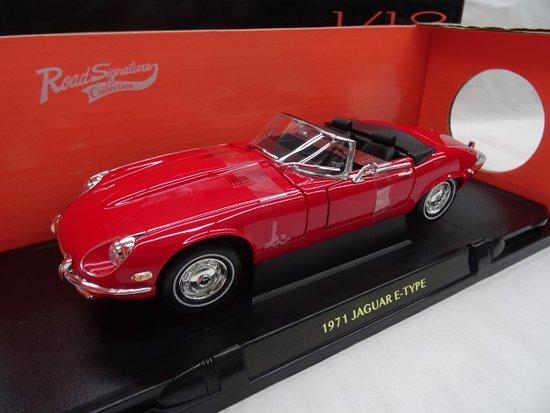 Jaguar E-Type Convertible 1971 Rood 1-18 Lucky Diecast