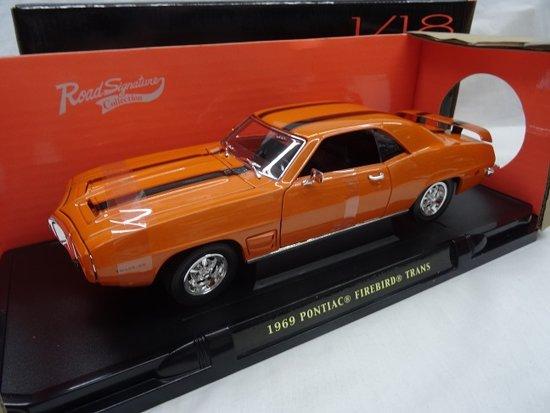 Pontiac Firebird Trans Am 1969 Oranje 1-18 Lucky Diecast