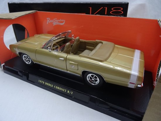 Dodge Coronet R/T Convertible 1970 Gold Metallic 1-18 Lucky Diecast