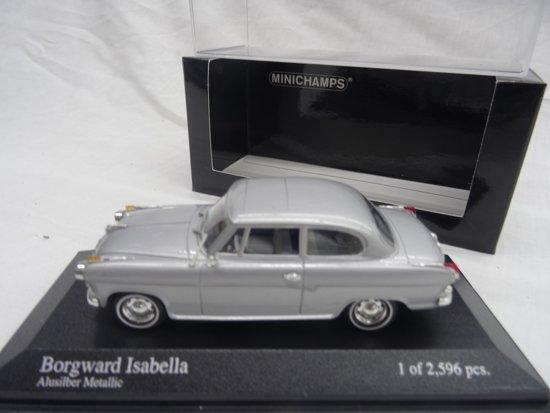 Borgward Isabella 1958-1962 Zilver 1-43 Minichamps Limited 2596 pcs.