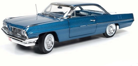 Pontiac Catalina 1961 Blauw Metallic 1:18 Ertl Autoworld Limited 1002 pcs.